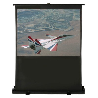 "Buhl Matte White 80"" Diagonal Portable Projection Screen"