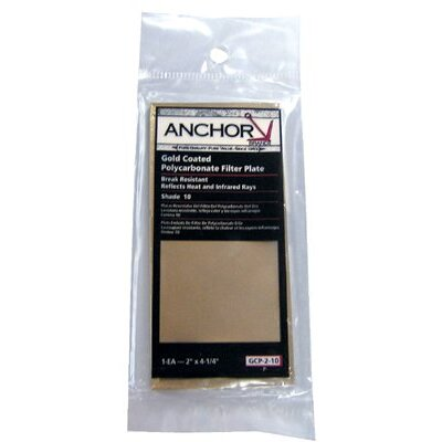 Anchor Gold Coated Polycarbonate Filter Plates - 2x4-1/4 #9 gc poly filter plate