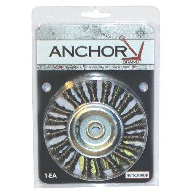 "Anchor Knot Wheel Brushes - 4"" ss knot wheel4"" x .014ss 5/8-11"