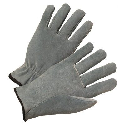 Anchor 4000 Series Cowhide Leather Driver Gloves - 980s leather drivers glove pearl gray