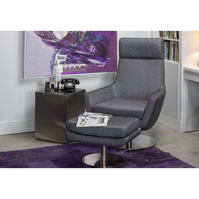 Mobital Pivot Swivel Armchair with Stainless Steel Base