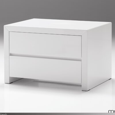 Mobital Blanche 2 Drawer Nightstand