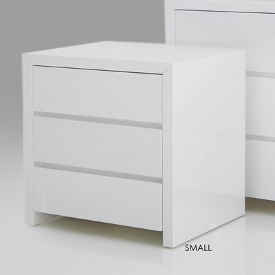 Mobital Bianca 3 Drawer Nightstand