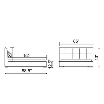 dCOR design Amelie Platform Bed
