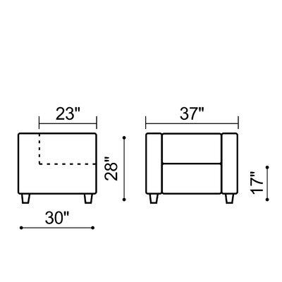 dCOR design Button Arm Chair