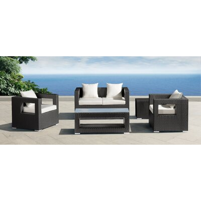 dCOR design Algarva Deep Seating Group with Cushions