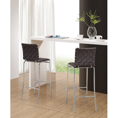 dCOR design Cross Barstool in Espresso