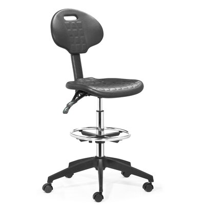 dCOR design Height Adjustable Drafters Office Chair with Footring