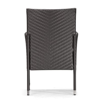 dCOR design Catalan Outdoor Dining Arm Chair with Cushion