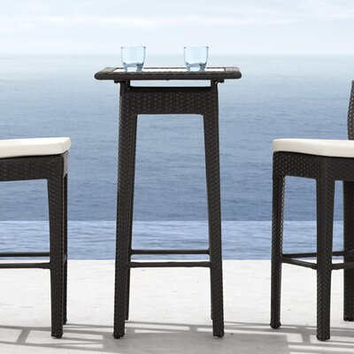 dCOR design Railay Outdoor Pub Table in Dark Brown