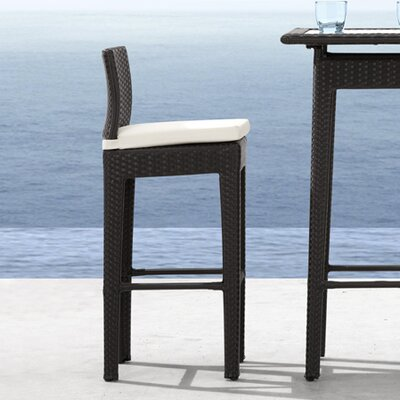 dCOR design Railay Outdoor Pub Table Set in Dark Brown