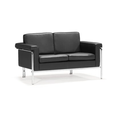 dCOR design Singular Leatherette Loveseat