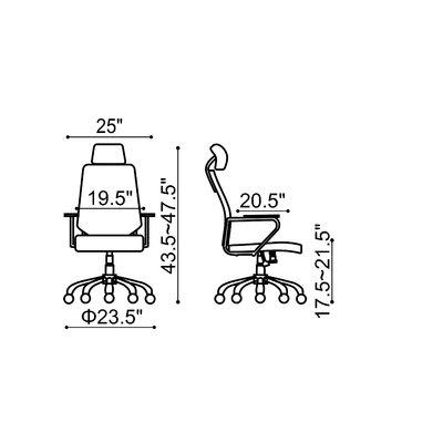 dCOR design Enterprise High Back Office Chair