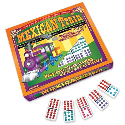 Mexican Train Double 12 Domino Game with Dots