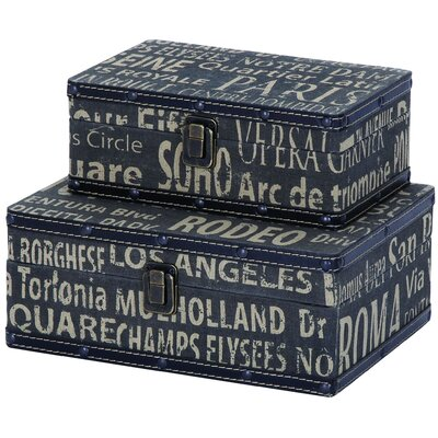 Woodland Imports European Landmarks Travel Box (Set of 2)