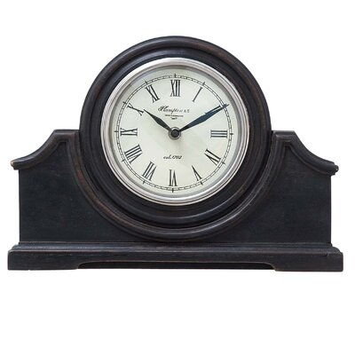 Woodland Imports Modern Wood Table Clock