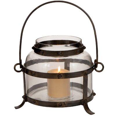 Woodland Imports Metal Glass Lantern