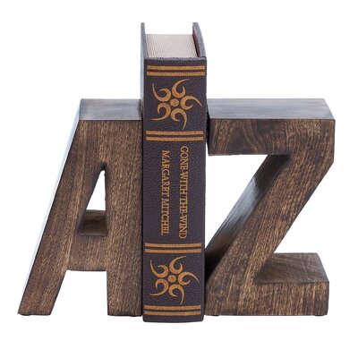 Woodland Imports Wood Book Ends