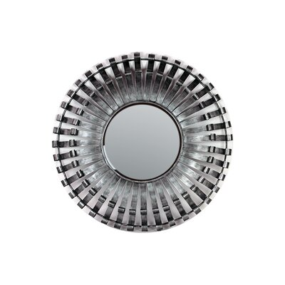 Contemporary Cut Design Metal Mirror