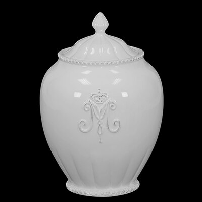 Beautiful and Glossy Ceramic Canister with Lid