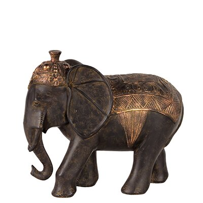 Skillfully Sculpted Resin Blanket Elephant Statue