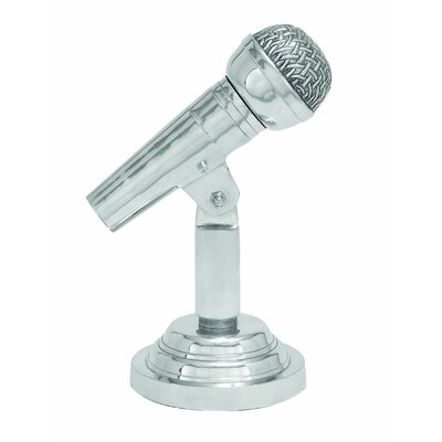 Woodland Imports Classy Microphone Sculpture