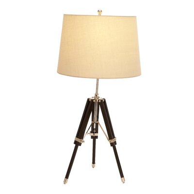 Woodland Imports Unique Wood Tripod Table Lamp