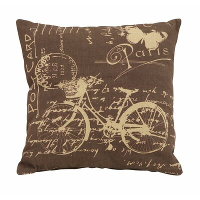 Paris Bicycle Theme Pillow