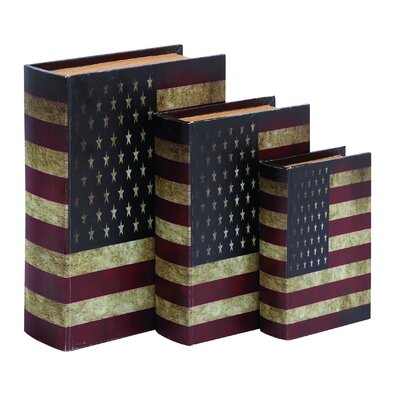 American Flag Theme Book Box (Set of 3)