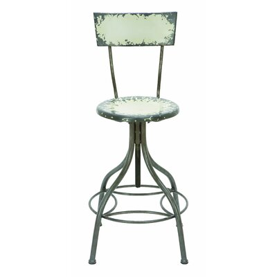 Woodland Imports Old Look Adjustable Bar Stool