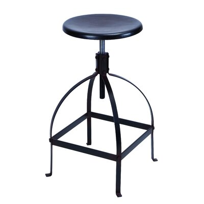 Woodland Imports Sleek and Simple Adjustable Bar Stool
