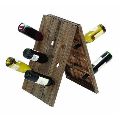 Woodland Imports Rustic 18 Bottle Wine Rack