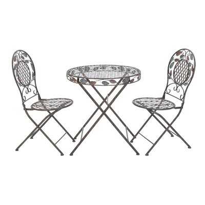 Woodland Imports 3 Piece Pub Table Set