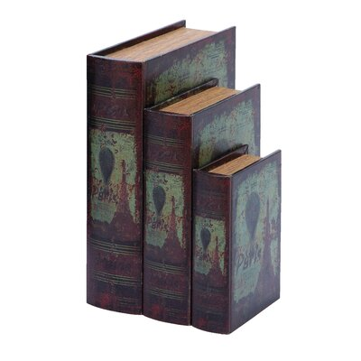 Paris Eiffel Tower Book Box (Set of 3)
