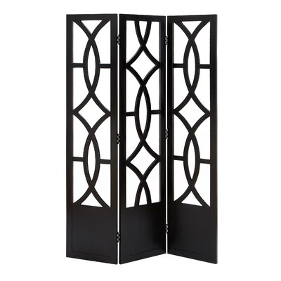 Woodland Imports Room Dividers Wood 3 Panel Screen