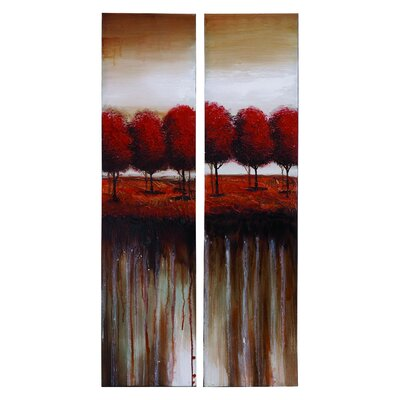 Woodland Imports Nature Painting (Set of 2)