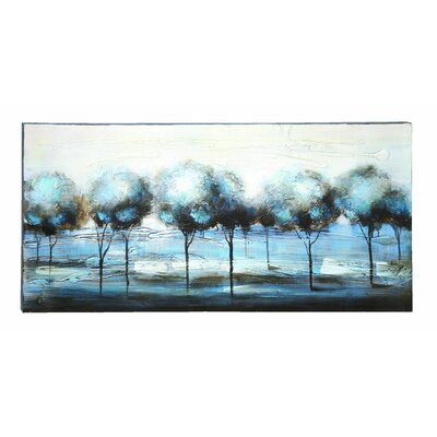 Woodland Imports Forest Landscape Painting Print on Canvas