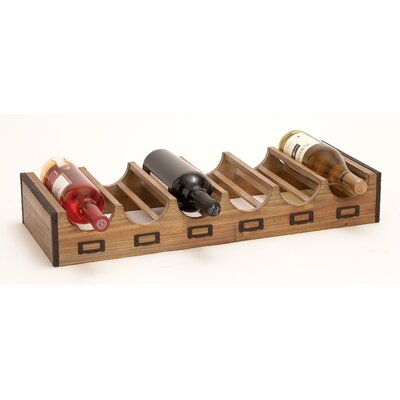 Woodland Imports Bistro 6 Bottle Tabletop Wine Rack
