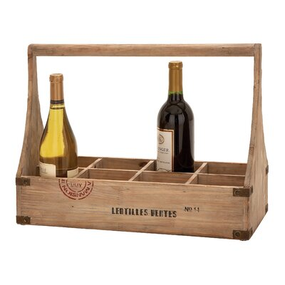8 Bottle Tabletop Wine Basket