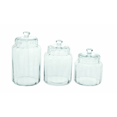 Woodland Imports 3 Piece Container Jar Set