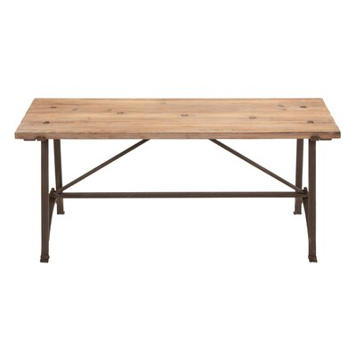 Woodland Imports Restoration Metal Wood Bench