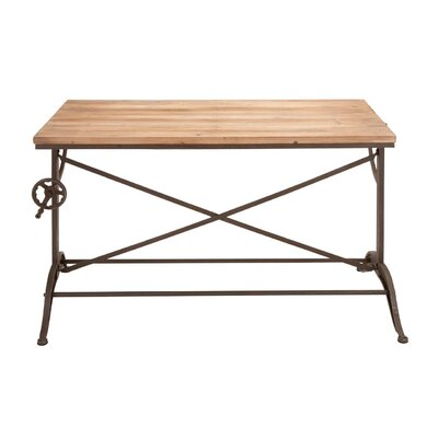 Woodland Imports Metal Wood Console Table