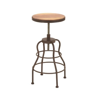 Woodland Imports Vintage Inspire Metal Wood Bar Chair