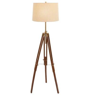 Woodland imports metal wood studio light floor lamp for Wayfair wood floor lamp