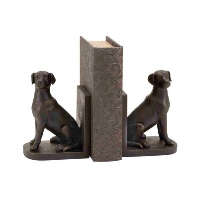 Woodland Imports Library Polystone Dog Book Ends
