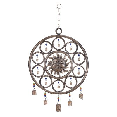 Metal Sun Wind Chime