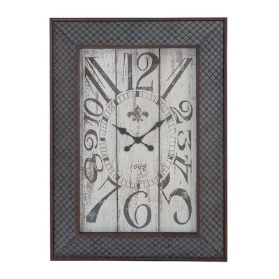Designed Metal Wood Wall Clock