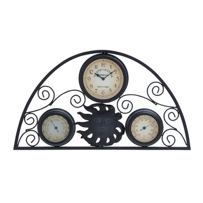 Woodland Imports Thermometer Wall Clock