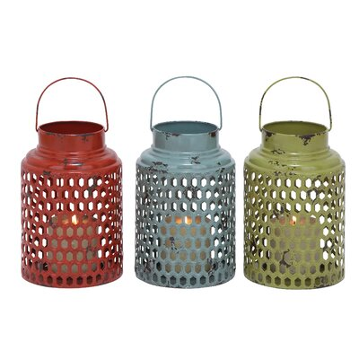 Woodland Imports Metal Lanterns (Set of 3)
