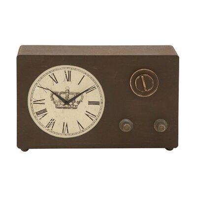Vintage Wood Clock with Roman Numerals